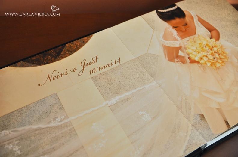 Álbum de Casamento_Capa Tecido Especial com acrílico